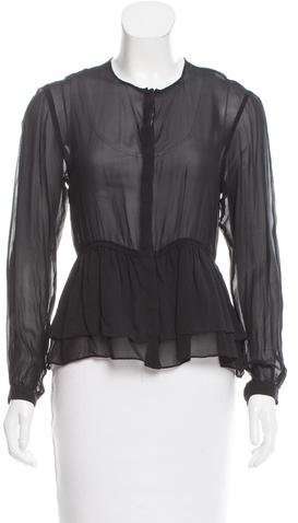 Burberry Brit Sheer Silk Blouse