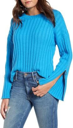J.o.a. Zipper Trim Sweater