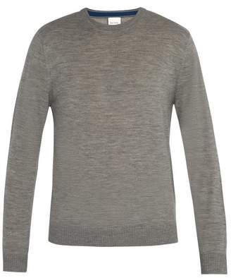 Paul Smith - Crew Neck Wool Sweater - Mens - Light Grey