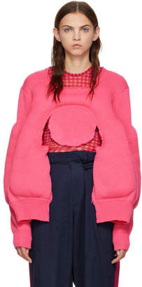 Comme des Garcons Pink Padded Sweater