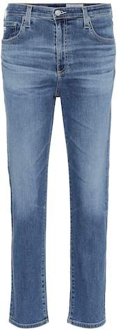 AG Jeans The Isabelle high-rise cropped jeans