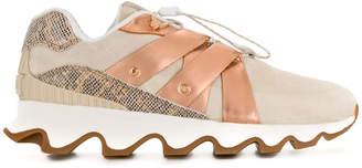 Sorel copper drawstring detail sneakers