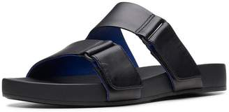 Clarks Bright Deja Flat Strap Sandal Shoes - Black 4644e7dcbe8
