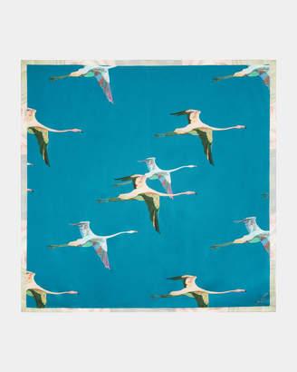 Ted Baker LISSAA Wonderland Flight square silk scarf
