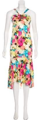 Yigal Azrouel Floral Silk Dress