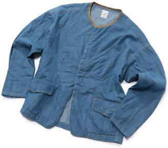 Men's Bigi (メンズ ビギ) - ADITIONAL ノーカラーデニムブルゾン メンズ ビギ コート/ジャケット