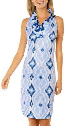Gretchen Scott Kitt Ikat Ruffneck Sleeveless Dress