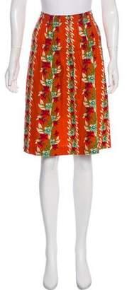 Alberta Ferretti Floral Print Knee-Length Skirt