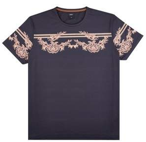 Mens Big & Tall and Gold Baroque Placement T-Shirt