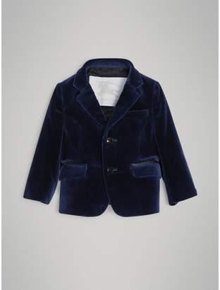 Burberry Velvet Tuxedo Jacket , Size: 3Y, Blue