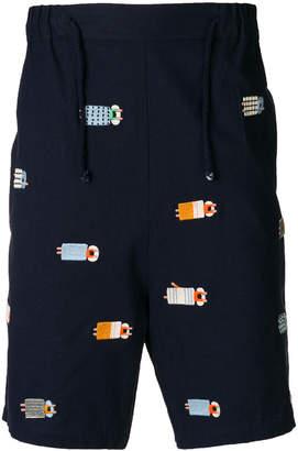 Henrik Vibskov embroidered Sleepers shorts