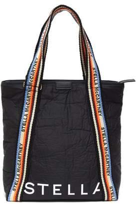 Stella McCartney Striped Rope Handles Padded Tote Bag - Womens - Black Multi