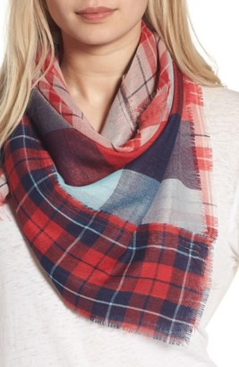 Women's Bp. Stitch Patchwork Plaid Scarf $19 thestylecure.com