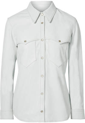 Isabel Marant Nile Leather Shirt - White