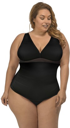 Lysa LYSA Black Tankini Swim Top Plus Size - Mariah