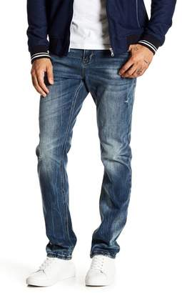 """Request Prince Wash Faded Stretch Jeans - 32\"""" Inseam"""