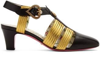 Gucci Gea logo-embellished leather pumps