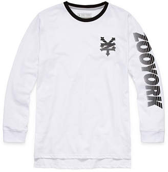 Zoo York Long Sleeve Crew Neck T-Shirt-Big Kid Boys