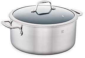 Zwilling J.A. Henckels 8-Quart Stainless Steel 3-Ply Ceramic Non-Stick Round Dutch Oven