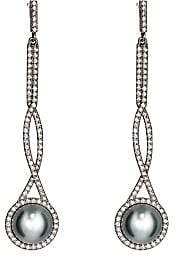 Monique Péan Women's Interlocking Drop Earrings-Pearl