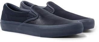 Vans Engineered Garments OG Classic LX Leather and Suede Slip-On Sneakers - Navy