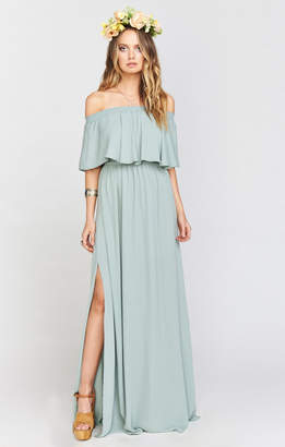 Show Me Your Mumu Hacienda Maxi Dress ~ Silver Sage Crisp