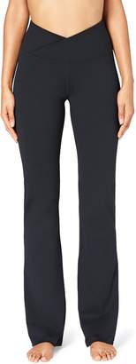 Core 10 Amazon Brand Women's 'Build Your Own' Yoga Pant - Cross Waist Boot Cut Pant XS (Tall Inseam)