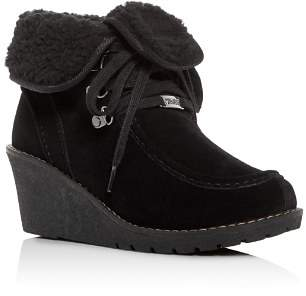 Khombu Women's Sienna Waterproof Cold-Weather Wedge Booties