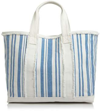 Aqua Striped Canvas Tote - 100% Exclusive