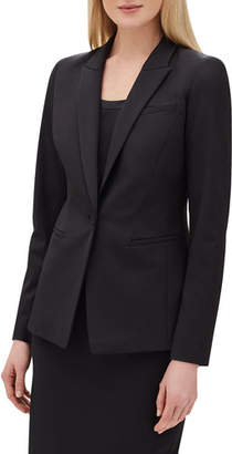 Lafayette 148 New York Harvey One-Button Italian Stretch-Wool Blazer