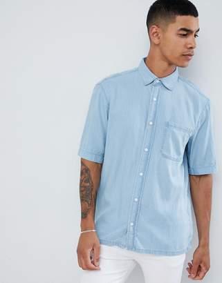 Pull&Bear denim shirt in light blue