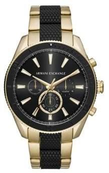Armani Exchange Quartz Chronograph Two-Tone Enzo Watch