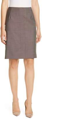 BOSS Vamaren Virgin Wool Pencil Skirt