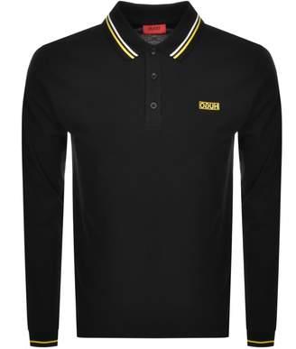 HUGO Donol194 Long Sleeved Polo T Shirt Black