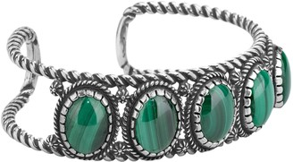 American West Sterling Malachite Cuff Bracelet