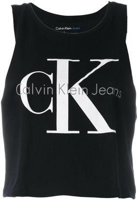 Calvin Klein Jeans logo print tank top $39.48 thestylecure.com