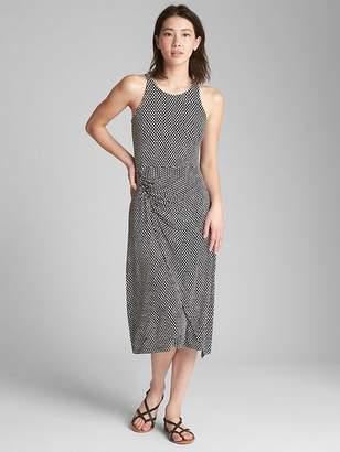 Gap Cinched Waist Tank Midi Dress