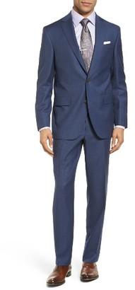 Men's David Donahue Ryan Classic Fit Check Wool Suit $895 thestylecure.com