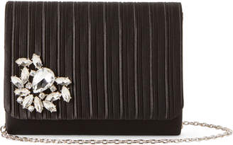 Jessica McClintock Black Kate Pleated Convertible Clutch