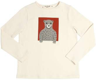 Nice Things Bear Printed Cotton Jersey T-Shirt