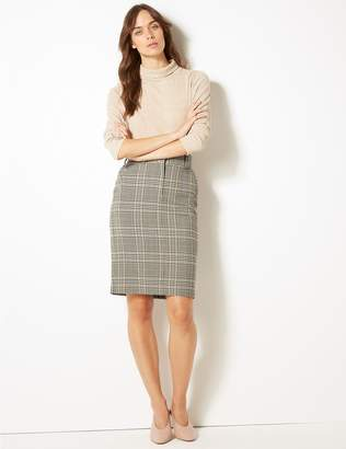 Marks and Spencer Checked Pencil Skirt