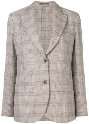 Eleventy check button blazer