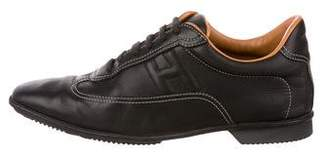 Hermes Leather Low-Top Sneakers