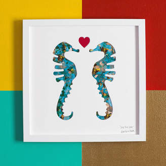 Bertie & Jack 'Sea The Love' Seahorses Wedding Gift Artwork