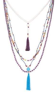 Design Lab Tassel and Beads Multi-Strand Necklace