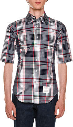 Thom Browne Classic Madras Check Poplin Shirt