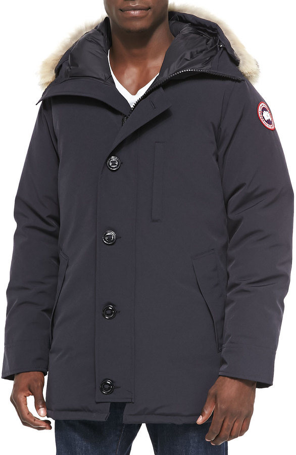 Canada Goose Chateau Parka w/Fur Trimmed Hood, Navy 4