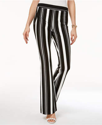INC International Concepts I.n.c. Striped Ponte-Knit Bootcut Pants