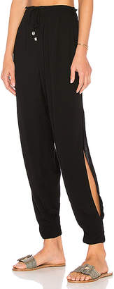 Indah Alligator Side Slit Pant