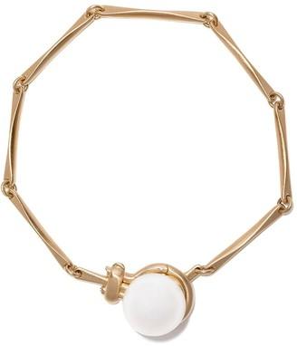 hum 18kt yellow gold silver lip pearl 11mm bracelet